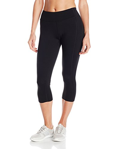 Hanes Women's Sport Performance Capri Legging, Ebony, Medium