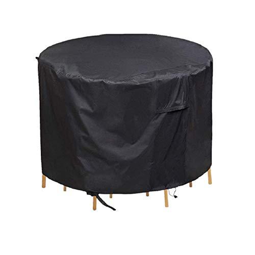 REW Fundas para muebles de jardín, cubiertas para mesa de patio al aire libre, fundas para muebles de patio (varios tamaños, negro)