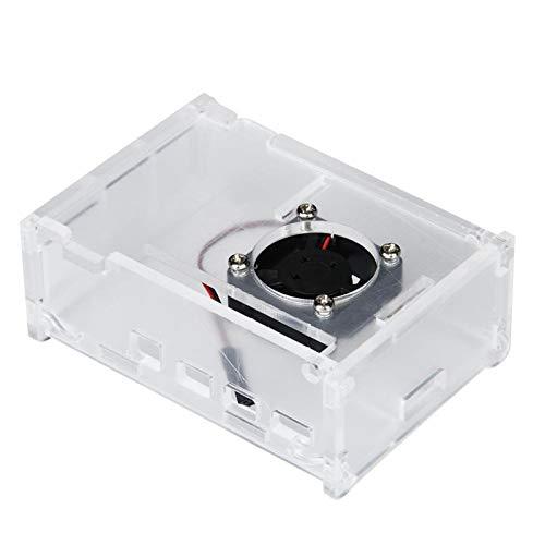 Wärmeableitungsbox Belüftung Transparent für Raspberry Pi 4 mit 4 x Schrauben und Muttern