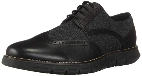 Nautica Men's Wingdeck Oxford Shoe Fashion Sneaker-Black Denim/Black-9