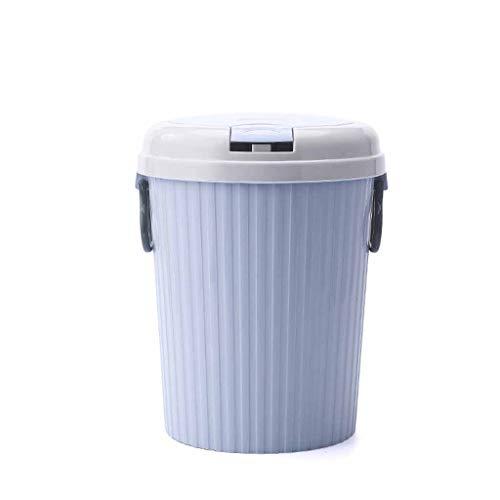 CSQ- Chambre à coucher Corbeille à papier, Corbeille ronde en plastique Bins Poubelle avec couvercle for Cuisine Salon Toilette Poubelle (Color : D, Size : 21 * 21 * 27.5CM)