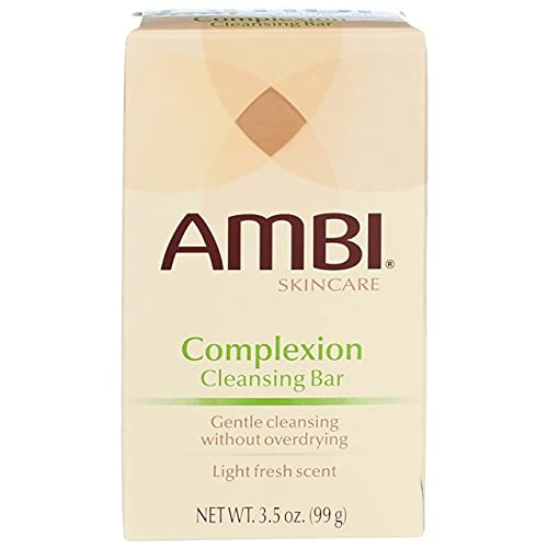 Ambi Skincare Complexion Cleansing Bar Soap   Gently Cleanses Skin without Overdrying   Enriched with Proven Cleansing Agents to Effectively Wash Away Surface Impurities   3.5 Oz (2-Pack)