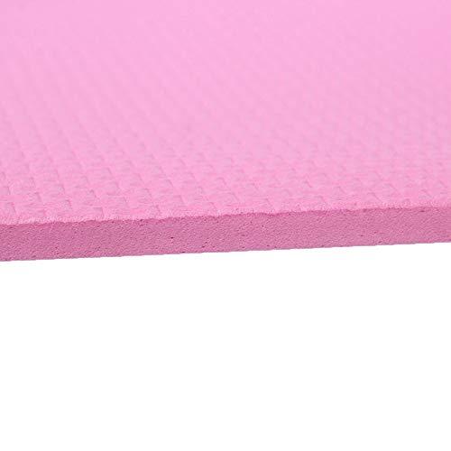 weichuang Esterilla de yoga de 6 mm de grosor, espuma EVA cómoda para yoga, pilates, color rosa