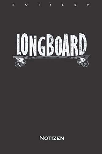 Longboard Skateboard Rollbrett Notizbuch: Kariertes Notizbuch für Freunde des gemütlichen Skatens