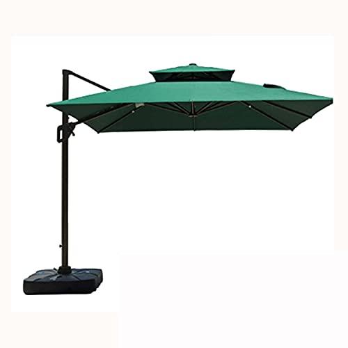 VTAMIN Amplia terraza de jardín Sombrillas cuadradas, 360 ° rotando sombrilla y Impermeable, Usado para Piscinas de Patio Trasero, etc. / Verde / 300cm (Color : Green, Size : 300CM)