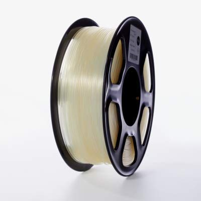 Printer Accessories 3D Printer PLA Filament 1.75mm for 3D Printers, 1kg(2.2lbs) +/- 0.02mm Transparent Color Printer Supplies (Color : Transparent) (Color : Transparent)