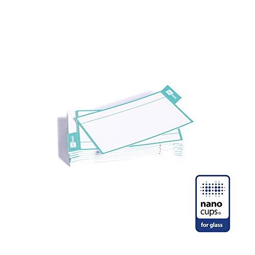 PATboard Scrum Board und Kanban Tafel - 16 Task Cards - Haftnotizen mit nanocups® für Glas - Mintgrün