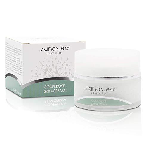 Sanaveo Couperose Creme 50ml - Hochwertiger Couperose Balsam zur täglichen Pflege bei Rötungen und Äderchen