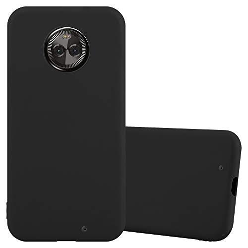 Cadorabo Hülle für Motorola Moto X4 in Candy SCHWARZ - Handyhülle aus flexiblem TPU Silikon - Silikonhülle Schutzhülle Ultra Slim Soft Back Cover Hülle Bumper