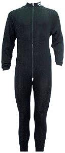 Sherwood Unterwäsche 1 Teilig mit Zip - Conjunto térmico de Ropa Interior para Hombre, Color Negro, Talla L