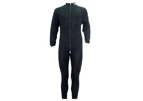 Sherwood Erwachsene Unterwäsche 1 Teilig mit Zip, Schwarz, L, 8400