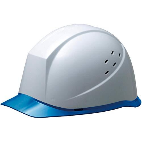 ミドリ安全 ヘルメット 作業用 PC製 クリアバイザー 通気孔付 ウインドフロー SC12PCLV RA3 UP ホワイト/ブルー