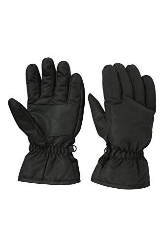 Mountain Warehouse Kids Ski Gloves Snowproof Boys Girls Ski Glove Fleece Lined Great To Keep Hands Warm Black L