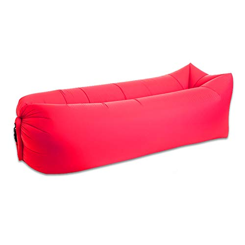 Inflatable Lounger Chair Inflatable Lounger Tumbona Inflable, Sofá Inflable Rápido Lazy Sleeping Bag 240 * 70 cm Camping Portable Air Banana Sofá Cama de Playa Hamaca de Aire,Red