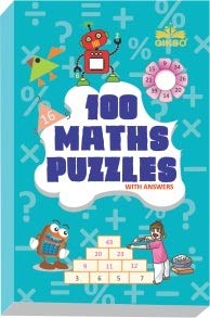 GIKSO 100 Maths Puzzles Book - Brain Boosting Mathematical Activities for Age 7+ Years Old Kids | Game Book (English) - Reprinted 2021