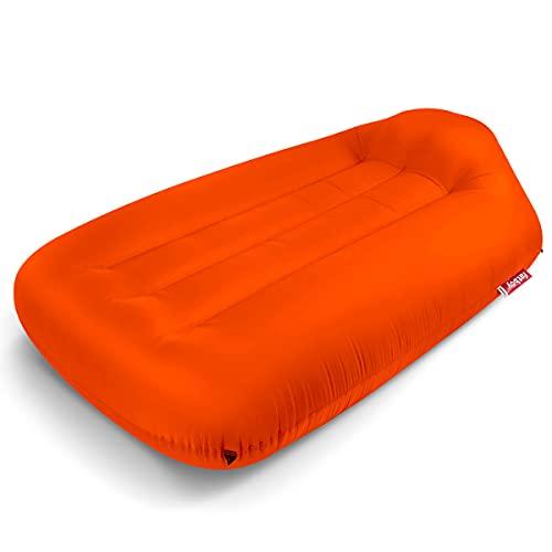 Fatboy® Lamzac L 3.0 Tulip Orange | Aufblasbares Sofa/Liege, Sitzsack mit Luft gefüllt | Outdoor geeignet | 190 x 105 x 45 cm