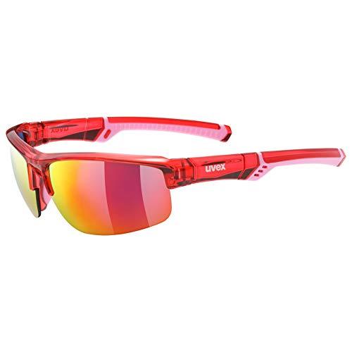uvex Unisex– Erwachsene, sportstyle 226 Sportbrille, red/red, one size