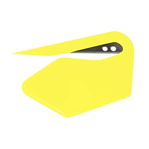 AGUIguo Wrapping Paper Cutter  Letter Opener Envelope Slitter  Mail Opener for Office Home amp Business Travelers  Sharp Glide Slicer Yellow