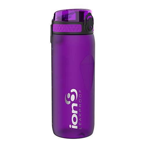 Ion8 Borraccia Bici Senza Perdite, Senza BPA, 750ml, Viola