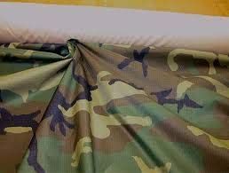 10 Yard Woodland Green Camouflage 70 Denier DWR Coated Nylon Ripstop Fabric 60 inch Wide Durable Water Repellent, Urethane DWR Water Repelant USA Beautiful Fabric for Tents tarps Shirts etc