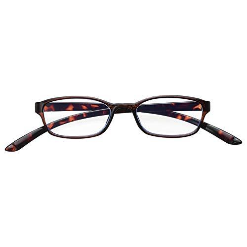 メイガン(Meigan) 首に かかる CAKALU 首掛け 老眼鏡 ブラウン デミ 度数 +3.00 (ブルーライト カット レンズ仕様) 4830-30