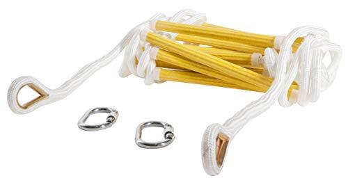 Noodbrandtrap Nylon touwladder 13ft / 4 m Vuurvaste veiligheidstouwladders met haken - Snel te plaatsen en gemakkelijk te gebruiken - Compact en lichtgewicht - Herbruikbaar - Gewicht Capaciteit tot 900 kg