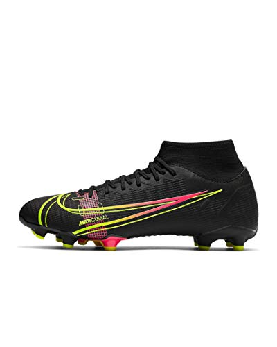 Nike Mercurial Superfly 8 Academy MG, Scarpe da Calcio Unisex-Adulto, Black/Black-Iron Grey, 45.5 EU