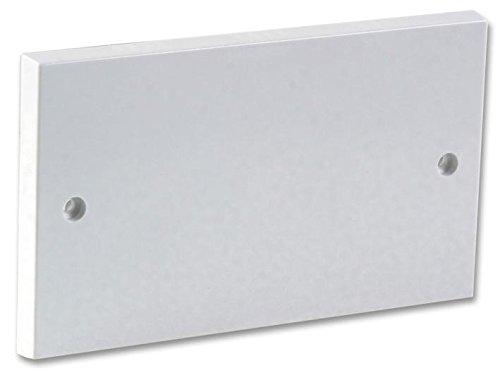 rhinocables Doppel Elektrisch Blanking Dummy Plate 2 Gang - White Gloss Plastik Ende