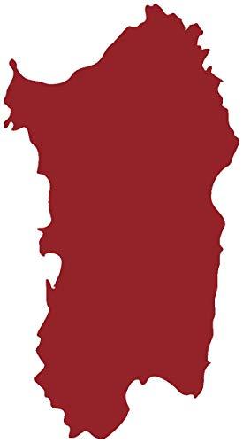 Samunshi® Sardinien Wandtattoo Insel Italien in 8 Größen und 19 Farben (44x80cm dunkelrot)