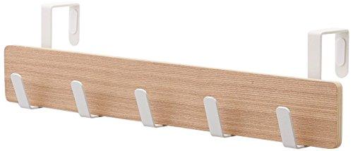 Yamazaki Home Ply Over The Door Hooks - Hanging Coat Rack, Beige, Small