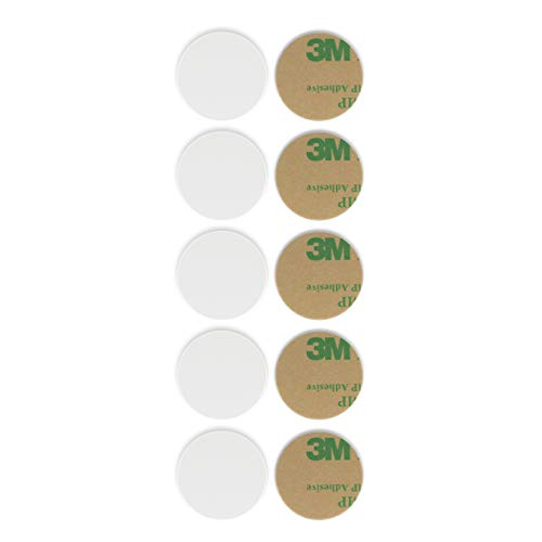 THONSEN NFC Tags NTAG215 NFC PVC Cards 25mm(1 inch) Round NFC Stickers|504 Bytes Memory Fully Programmable with All NFC-Enabled Phones and Devices|Compatible Amiibo TagMo - 10 Pack