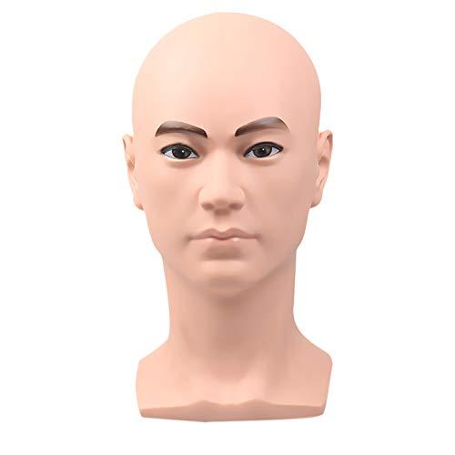Scicalife Cabeza de Maniquí Cabeza de Hombre Modelo Gafas Casco Sombrero Bufanda Cabeza de Exhibición Modelo Profesional Cosmetología Cabeza de La Gente
