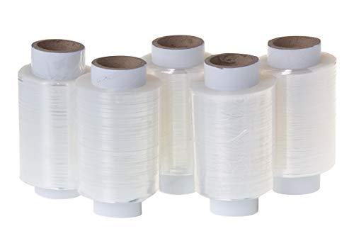 Lot de 5 mini rouleaux de film étirable Transparent 10 cm 0,25 kg