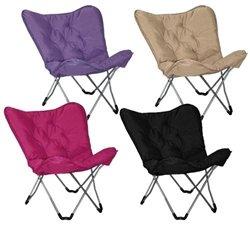 Memory Foam Butterfly Chair - Black