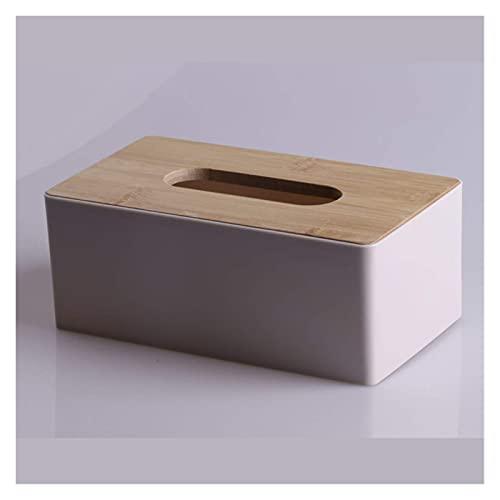 HFTD Caja de pañuelos Porta pañuelos Caja de pañuelos de Madera Caja de pañuelos para el hogar Caja de pañuelos para automóvil Caja de Almacenamiento de Muebles Soporte para pañuelos (Color: Rosa)