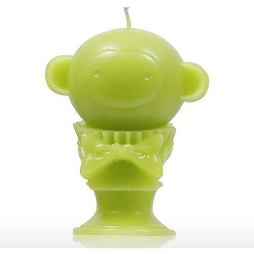 ZHANG Vela Perfumada - Mono Verde Esqueleto de Animal Cera de Aromaterapia Decorativa Mecha de Algodón Natural Regalos para Cumpleaños