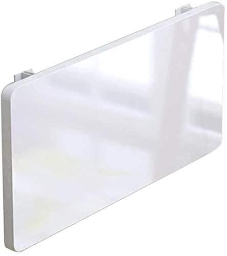 JIADUOBAO Mesa plegable flotante para montaje en la pared, mesa plegable, mesa para ordenador, carga máxima de 66 kg, espacio pequeño, color blanco, tamaño: 50 x 30 cm