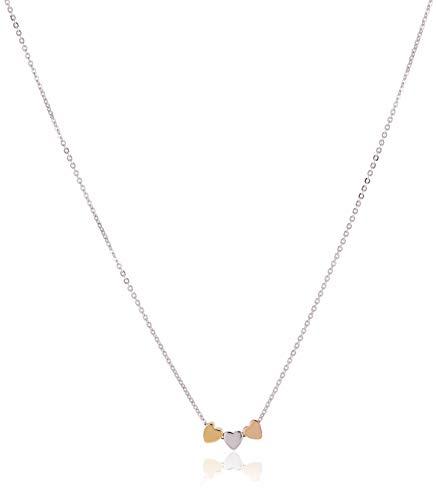 Fossil Damen Halskette - Mother´s Day Hear - Tri-Tone Sterling Silver- JFS00400998