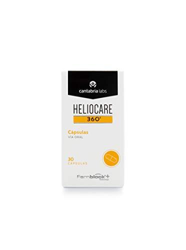Heliocare 360º Cápsulas - Fotoprotección desde el Interior, Aumenta la Resistencia de la Piel al Sol, Previene Fotoenvejecimiento y Manchas, 30 cápsulas