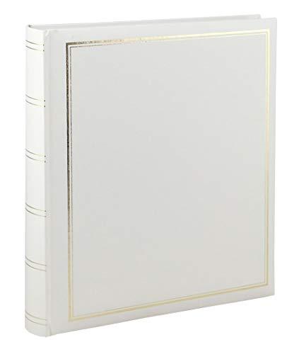 Ideal Trend Big Jumbo Fotoalbum in 29x33 cm 100 weiße Seiten Vinyl Foto Buch Album: Farbe: Weiß