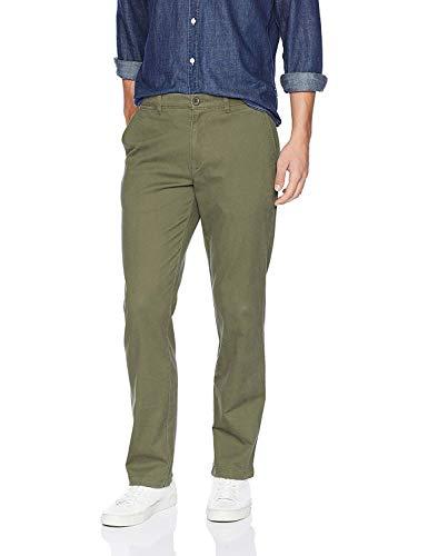 Amazon Essentials Men's Straight-Fit Casual Stretch Khaki, Olive, 36W x 30L