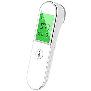 Termometro Digitale A Infrarossi, Termometri Per Bambini Non Contatto, Con Display LCD, Letture Immediate Accurate, Per Fronte, Orecchio, Adulti, Bambini, Bambino