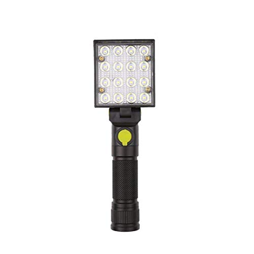 JSJJAUA Faroles de Mano Banco de alimentación portátil Recargable Linterna LED de Trabajo Reflector de la luz del Reflector Impermeable del USB for la iluminación Exterior