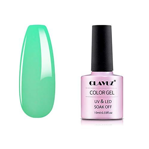 Gel Nail Polish,CLAVUZ Glow In the Dark Gel Nail Polish Soak Off UV Led Luminous Lacquer Manicure DIY Nail Art at Home 10ML