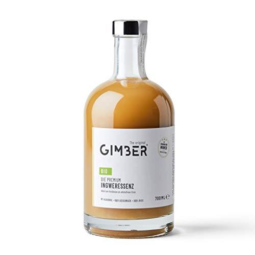 GIMBER Biologisches Ingwerkonzentrat 700 ml | Alkoholfreies Bio-Getränk aus Ingwer, Zitrone und Kräutern | Premium Ingwer Essenz