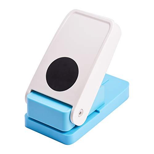PandaHall Elite 1 stück Zufällige Farbe Prägen DIY Papier Druck Kartenschneider 38mm Runde Muster Papier Locher für Sammelalbum Gravur Grußkarte Machen DIY Handwerk Machen