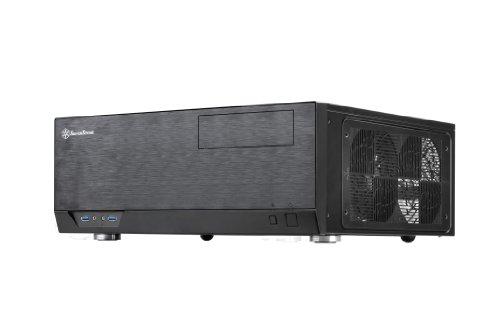 SilverStone SST-GD09B - Grandia HTPC ATX Desktop Gehäuse mit hochleistungsfähigem und geräuscharmen Kühlsystem, schwarz