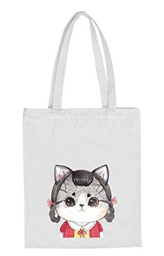 Black Temptation Weiß Reisetaschen Einkaufstasche Katzen-Liebhaber