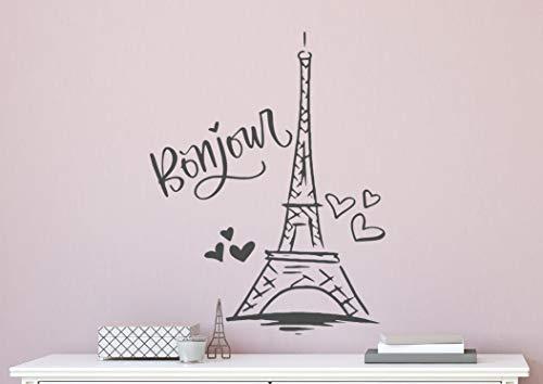 Eiffelturm Wandtattoo Paris Wandtattoo Eiffelturm Wandkunst Paris Wanddekor Eiffelturm Wandaufkleber Paris Wanddekor Mädchenzimmer