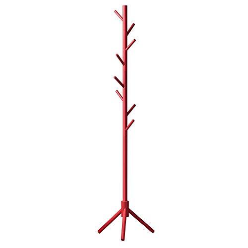 C-K-P Garderobenständer, europäischer Trockenboden für Massivholz-Aufhänger, rot